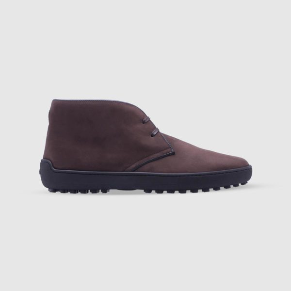 Dark brown desert boots in nubuck