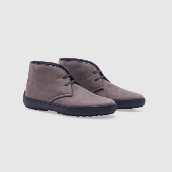 Taupe desert boots in nubuck