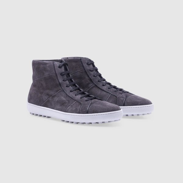 Anthracite Grey sneaker in suede