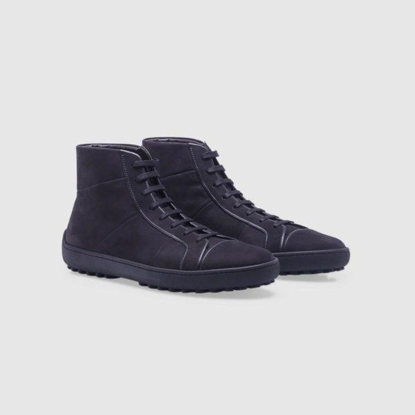 Black sneaker in nubuck