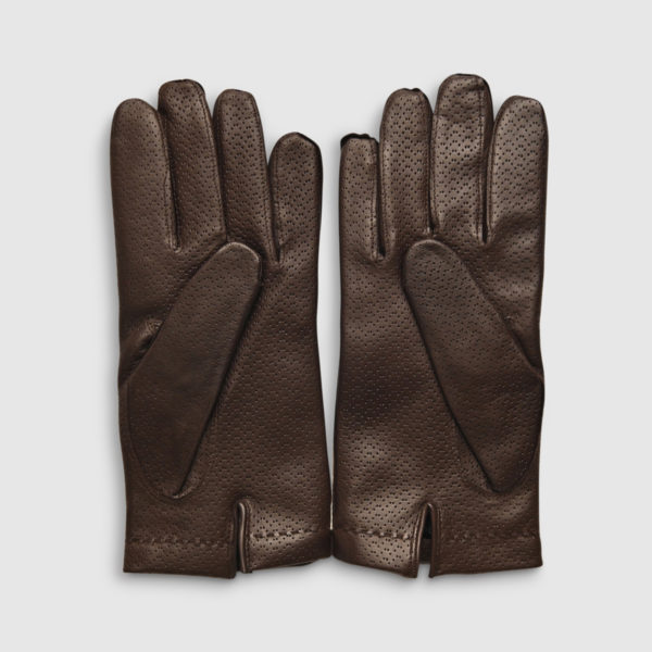 Omega Brown Lambskin & Wool Glove