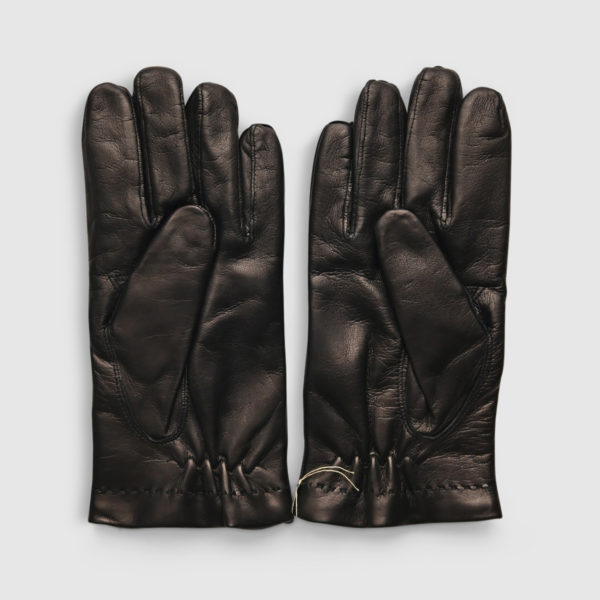 Omega Black Lambskin & Wool Glove