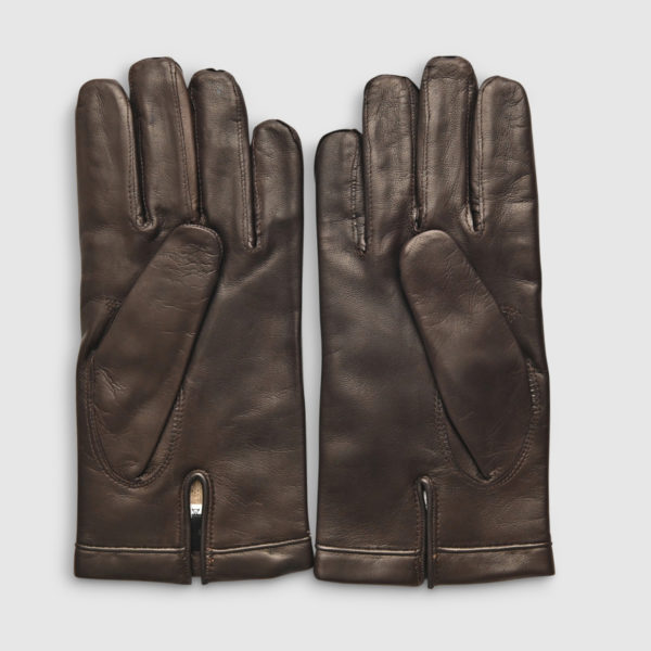 Omega Wool & Brown Lambskin Glove