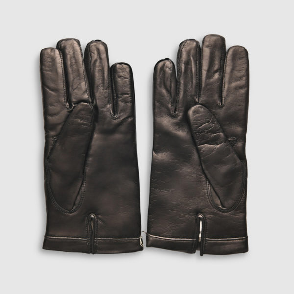 Omega Wool & Black Lambskin Glove