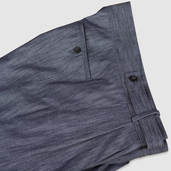 Gurkha Blue Denim Cotton Trousers