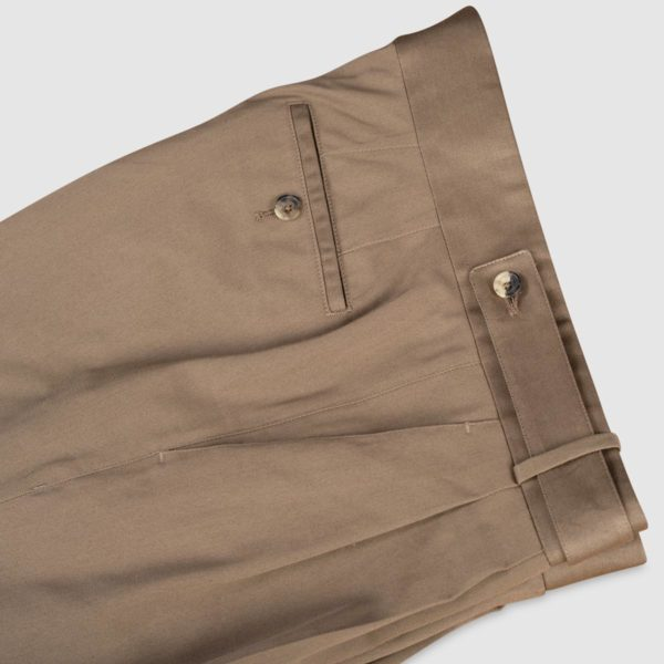 Gurkha Beige Stretch Cotton Trousers