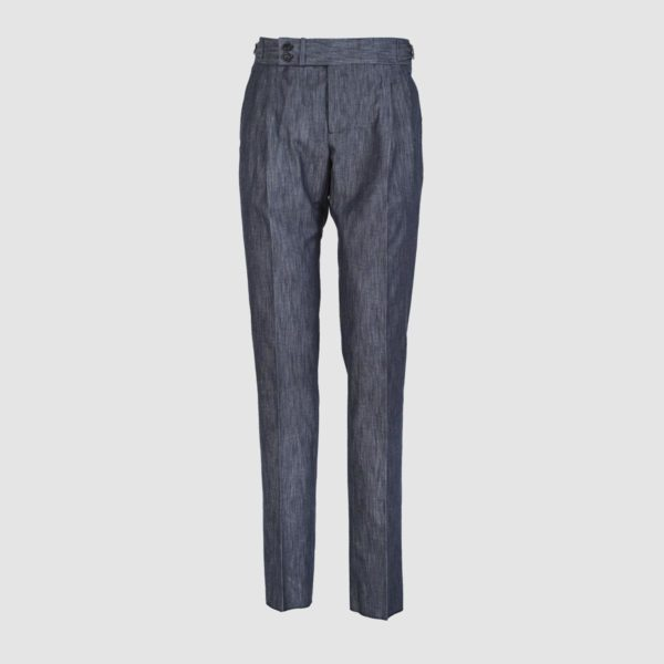 Gurkha Denim Blu Stretch Cotton Trousers