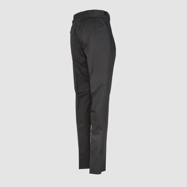 Gurkha Dark Grey Stretch Cotton Trousers