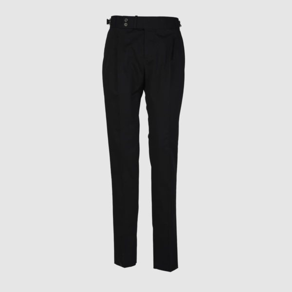 Gurkha Black Stretch Cotton Trousers