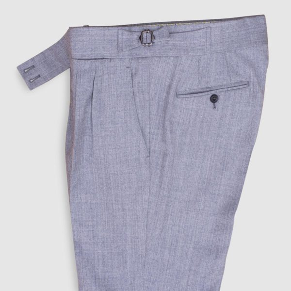 Gurkha Light Grey 130s Wool Trousers