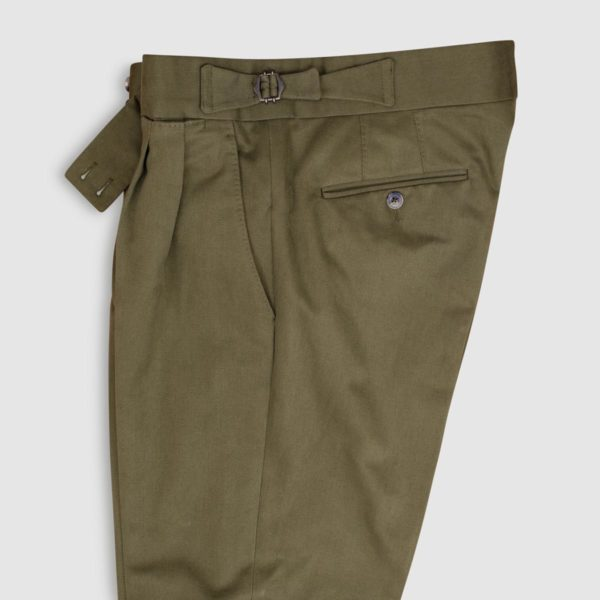 Gurkha Green Cotton Trousers