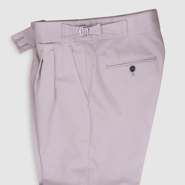 Gurkha Beige Cotton Trousers