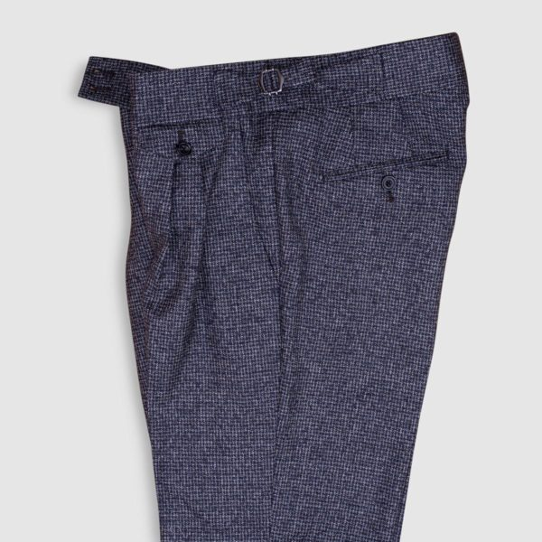 Gurkha micro-pattern 130s Wool Trousers
