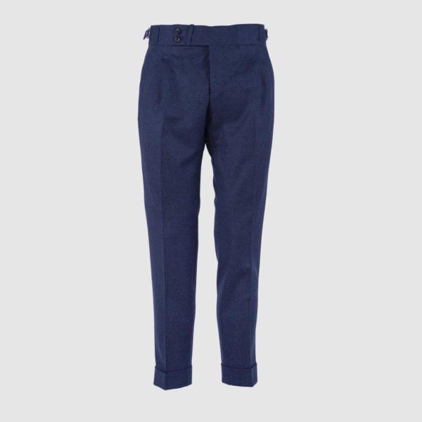Gurkha Blue 130s Wool Trousers