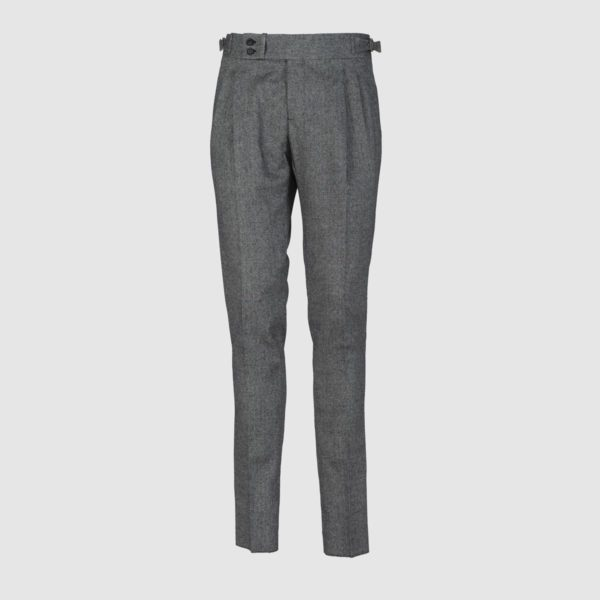 Gurkha Herringbone Black&White Wool Trousers