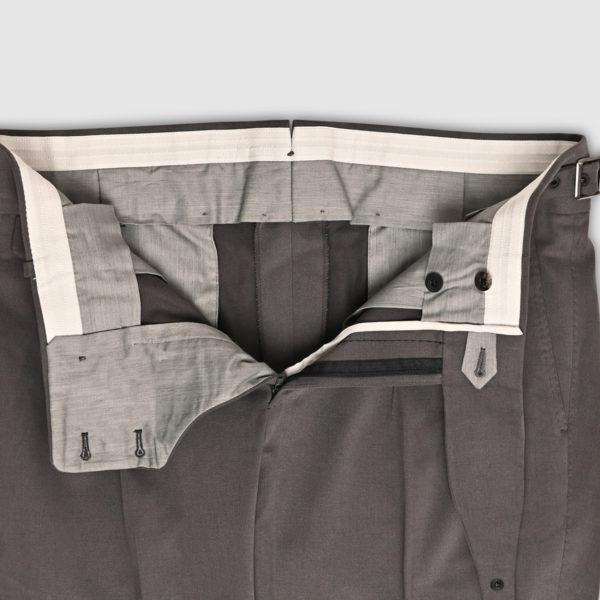 Gray Velvet Two Pleats Trousers