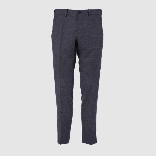 Pantaloni In Lana 130s One Pleat Grey