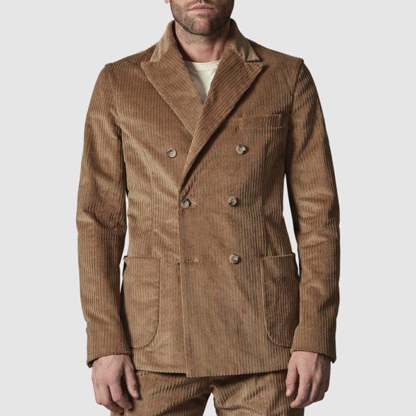 Chelsea Jacket in Beige Corduroy Wool