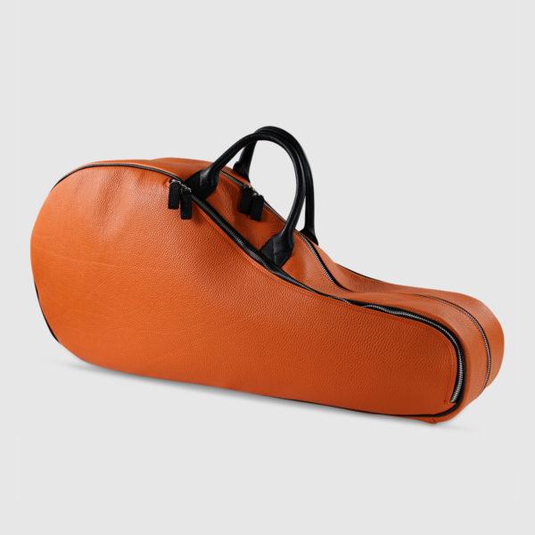 Borsa per racchette da tennis in pelle Arancione/Nero