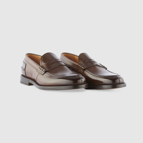 College Loafers in Brown Brushed Calfskin Leather