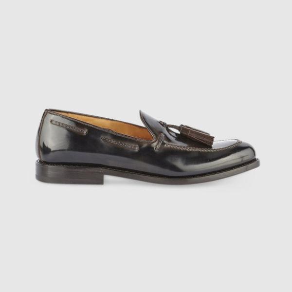 Loafers with Tassels in Dark Brown Calfskin