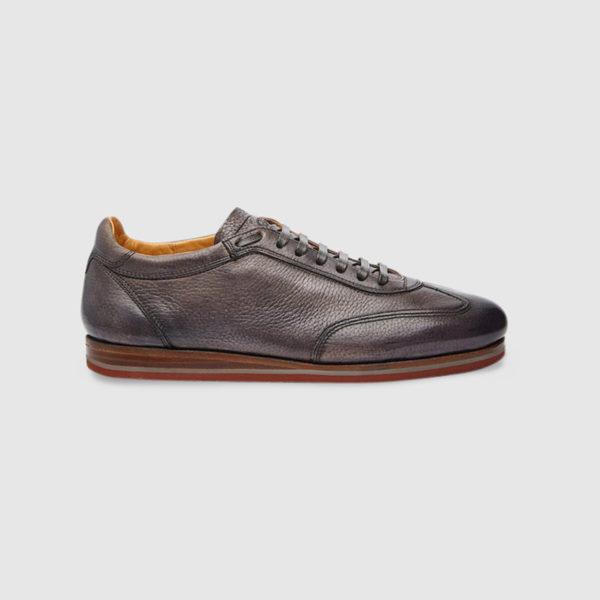 Sneaker in Cervo Tamponato Grigio