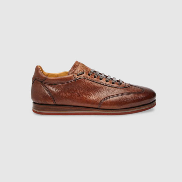 Sneaker in Cervo Tamponato Marrone