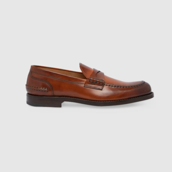 College Loafers in Brown Calfskin Leather