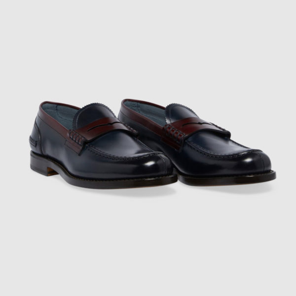 Classic Loafers in Bicolor Blue & Leather Calfskin