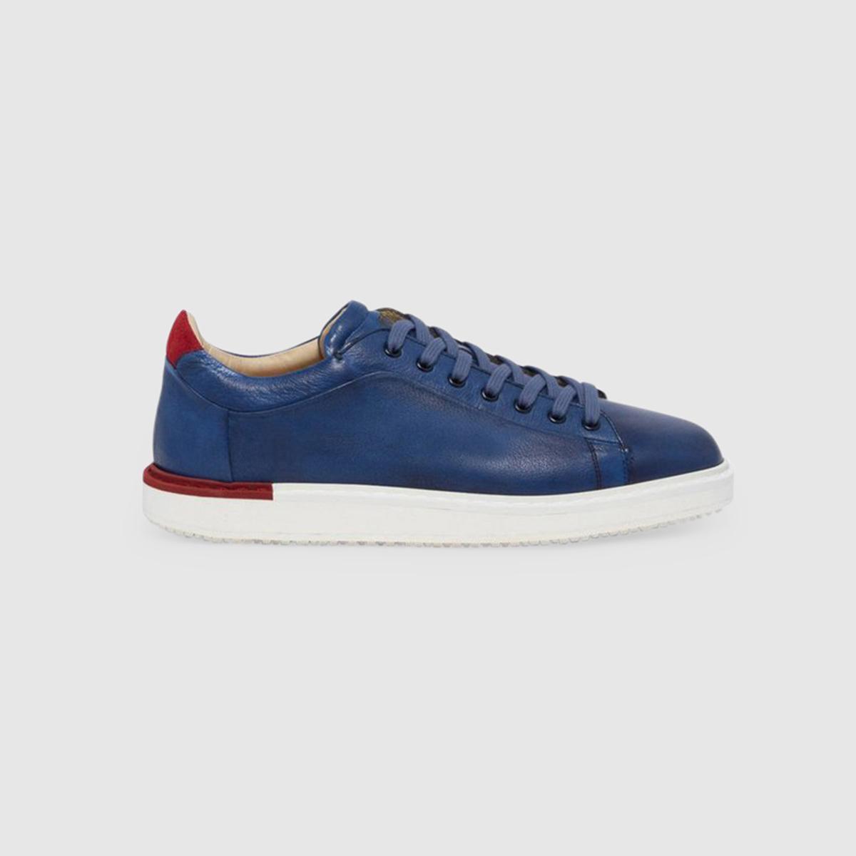Sneaker in Cervo Bicolore  Blu/Rosso