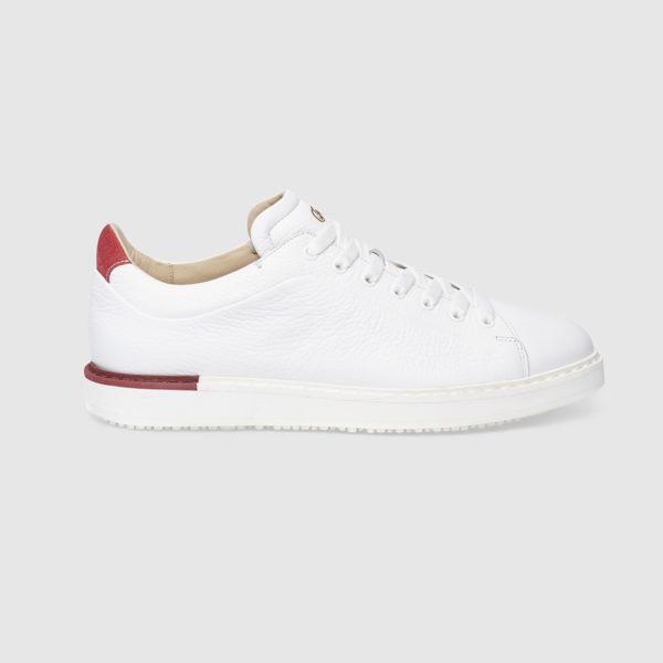 Sneaker in Cervo Bicolore  Bianco/Rosso