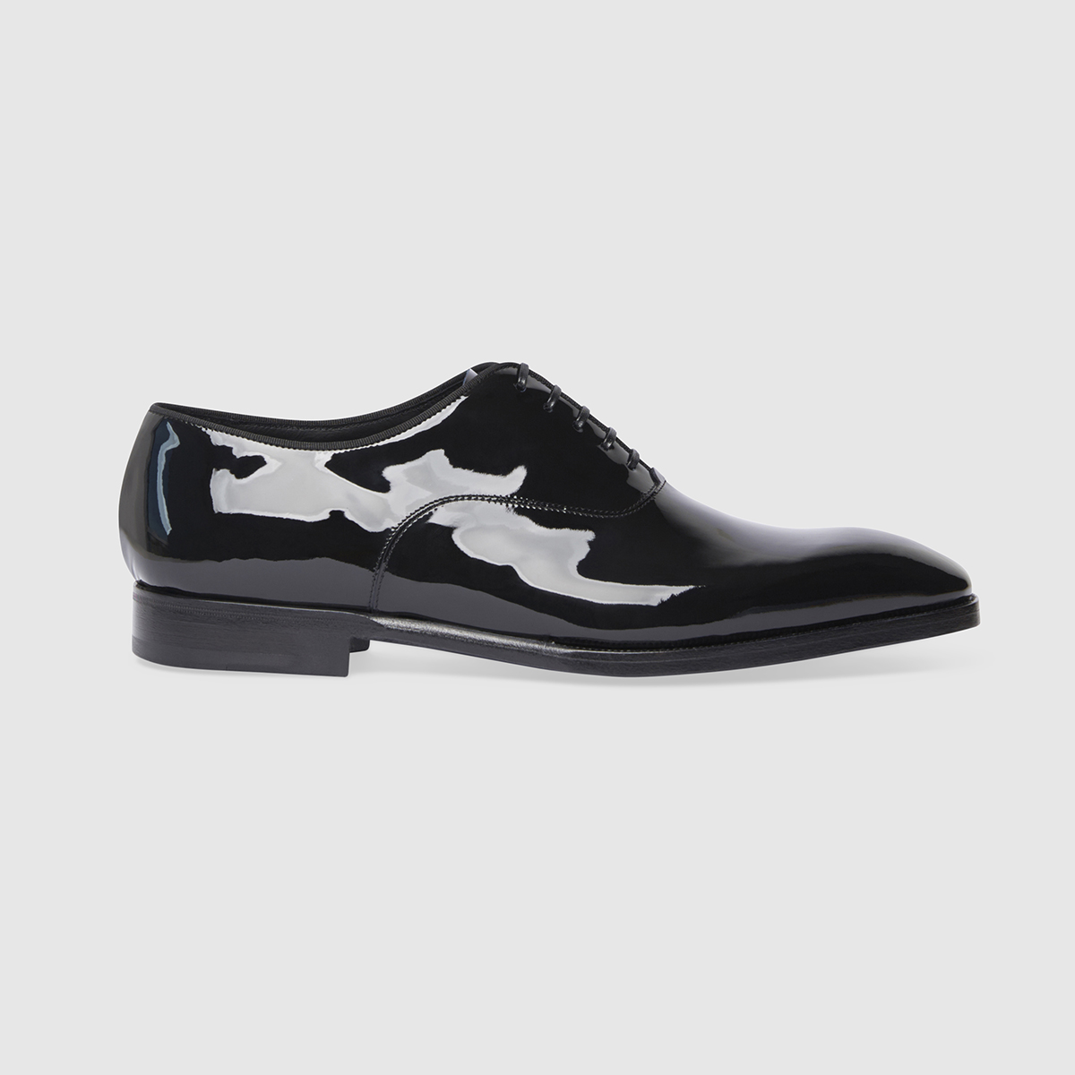 Oxford Shoe in Black Patent Calf Leather