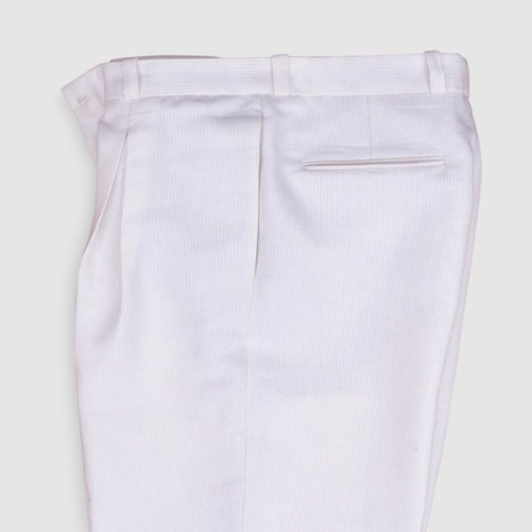 One Pleat Cotton and Hemp Oversize Trousers