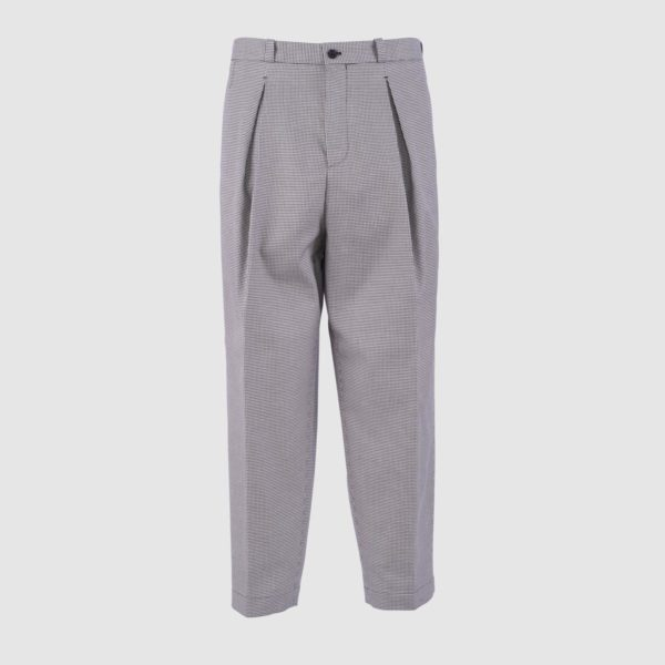 One Pleat Cotton Oversize Trousers