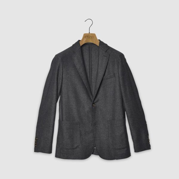Chelsea Jacket in Herringbone Wool