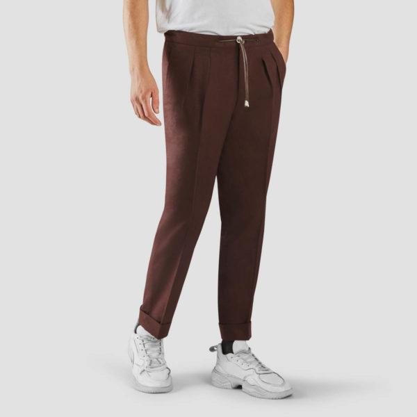 Amaranth Flannel Jogging Trousers