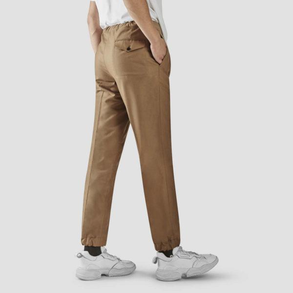 Cammel Flannel Jogging Trousers