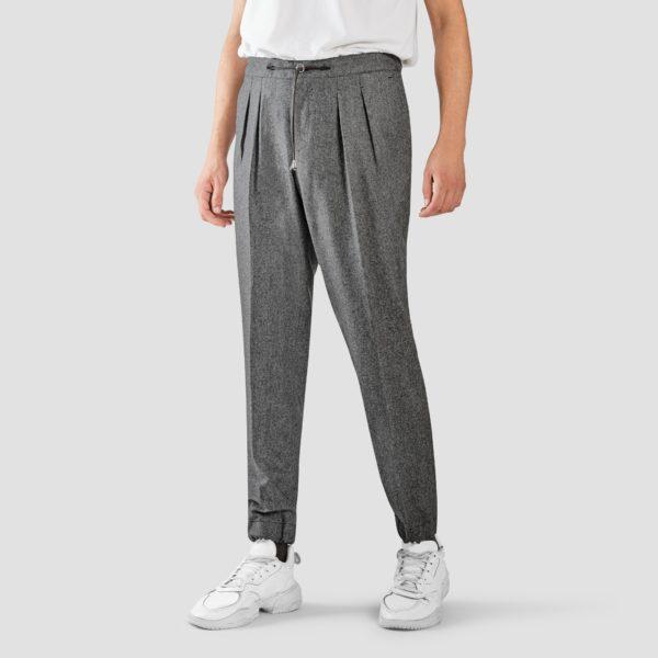 Medium Gray Flannel Jogging Trousers