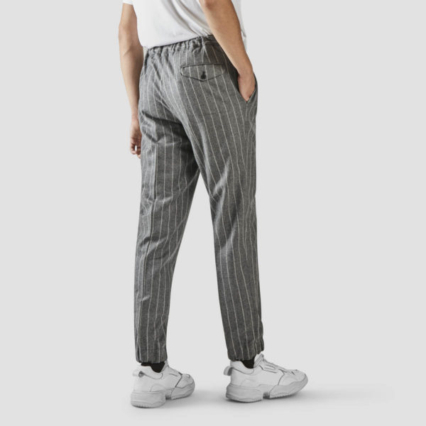 Striped Gray Flannel Jogging Trousers
