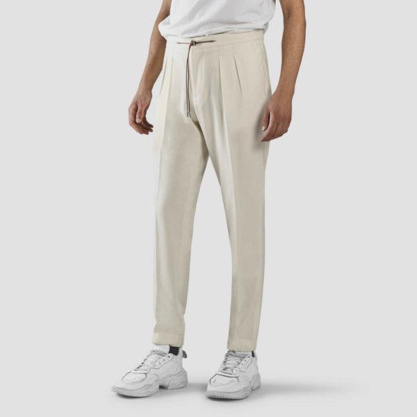 Cream Flannel Jogging Trousers