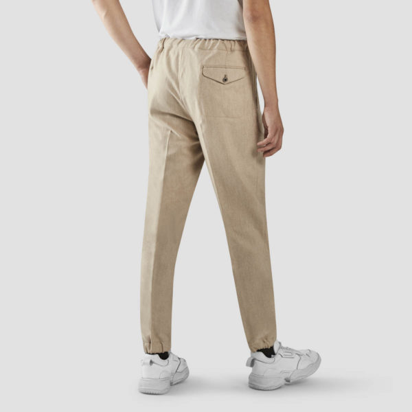Sand Flannel Jogging Trousers