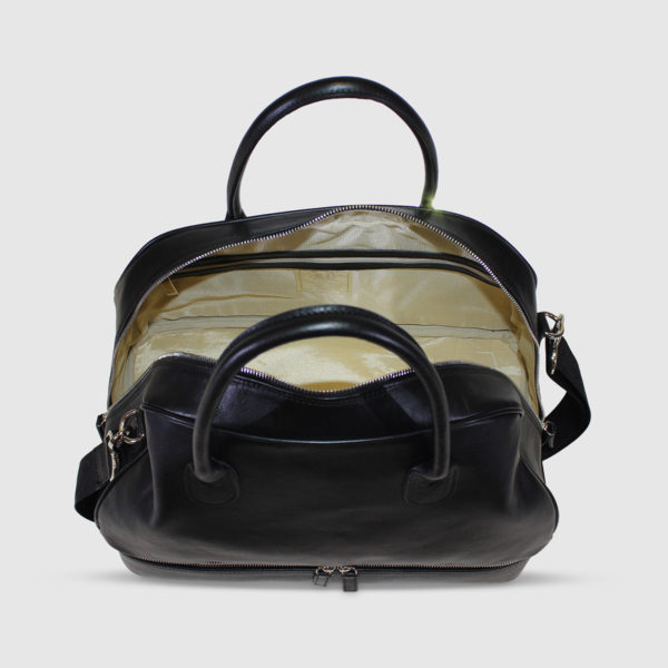 Terrida Leather Domed Weekender