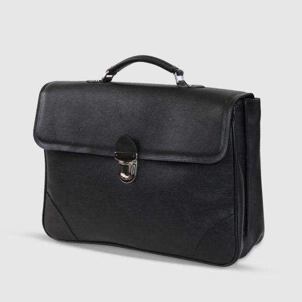 Briefcase Terrida in pelle nera