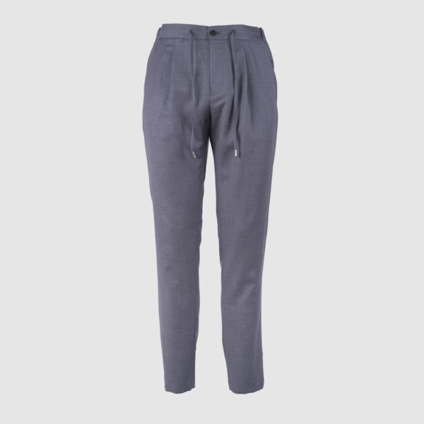 Pantaloni Da Jogging In Lana Super 130 Grigi