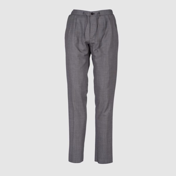 Grey Wool Jogging Trousers