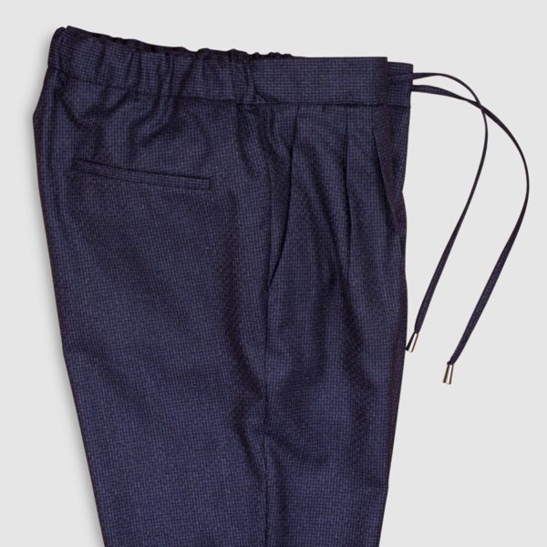Blue Super 130s Wool Jogging Trousers