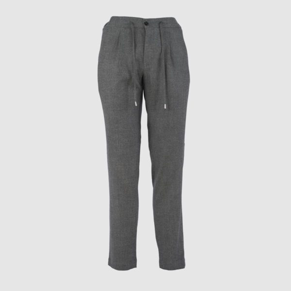 Green Super 130s Wool Jogging Trousers