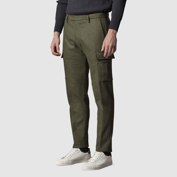 Pantalone Raval cargo in Lana