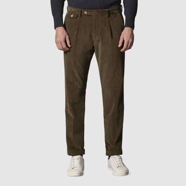 Pantalone in Velluto a Coste di Cotone