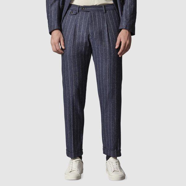 Pantalone in Gessato di Lana